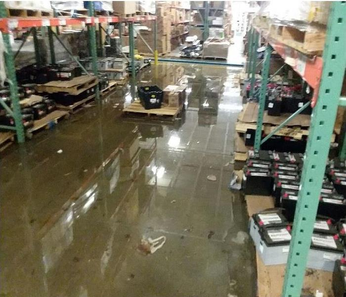 Flooded warehouse Before