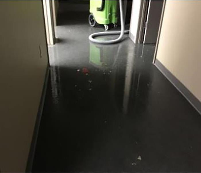Wet floors at a business